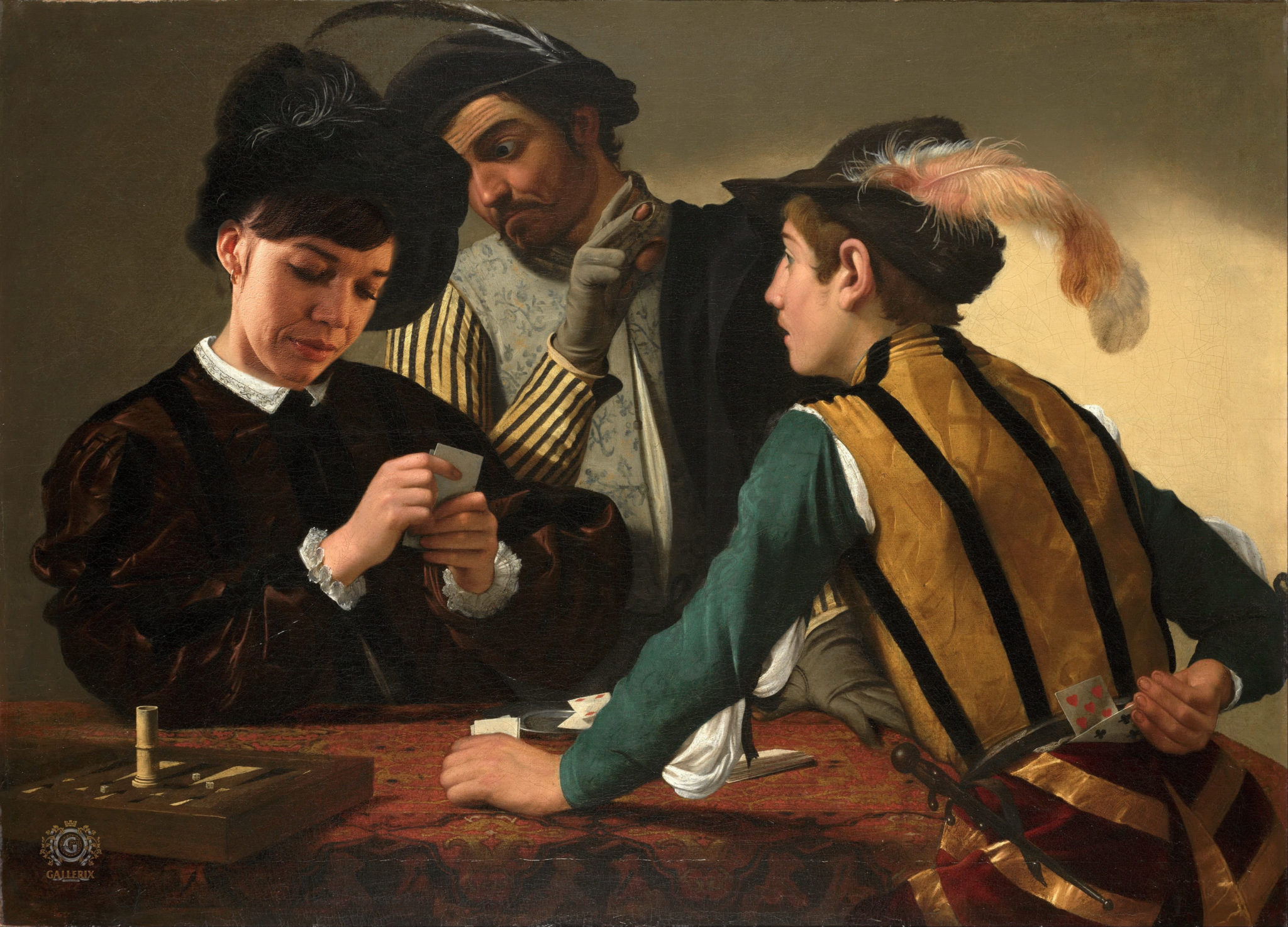 "1 exp - Based on picture by Michelangelo Merisi da Caravaggio ""The Cardsharps"""
