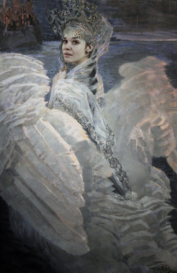 "Based on picture by Michael Alexandrovich Vrubel ""Swan-Princess"""