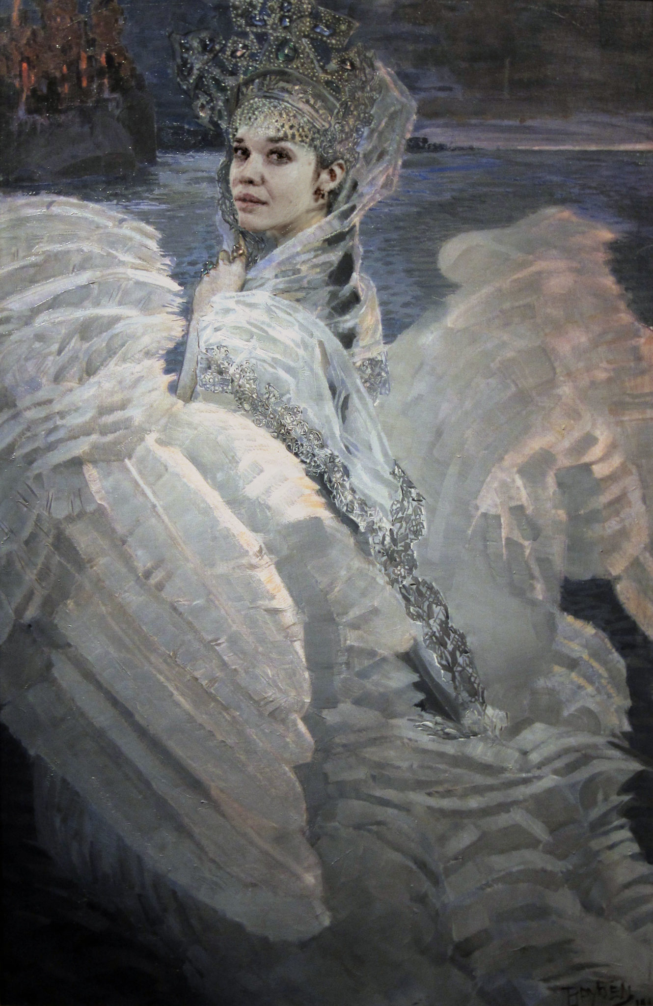 """EXPORT TSarevna lebed Vrubel - Based on picture by Michael Alexandrovich Vrubel """"Swan-Princess"""""""